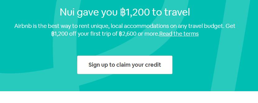 คูปองส่วนลด airbnb