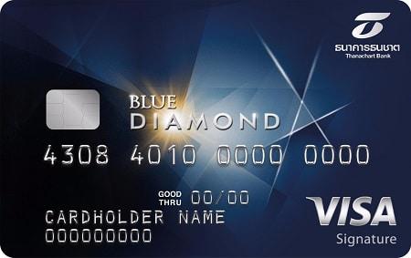 บัตรเครติด ธนชาต บลู ไดมอนด์ วีซ่า ซิกเนเจอร์ (Thanachart Blue Diamond Visa Signature)