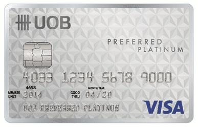 บัตรเครติด ยูโอบี พรีเฟอร์ แพลทินัม (UOB Preferred Platinum Card)
