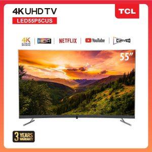 TCL สมาร์ททีวี 55 นิ้ว LED Smart Wifi4K TV 55P5CUS