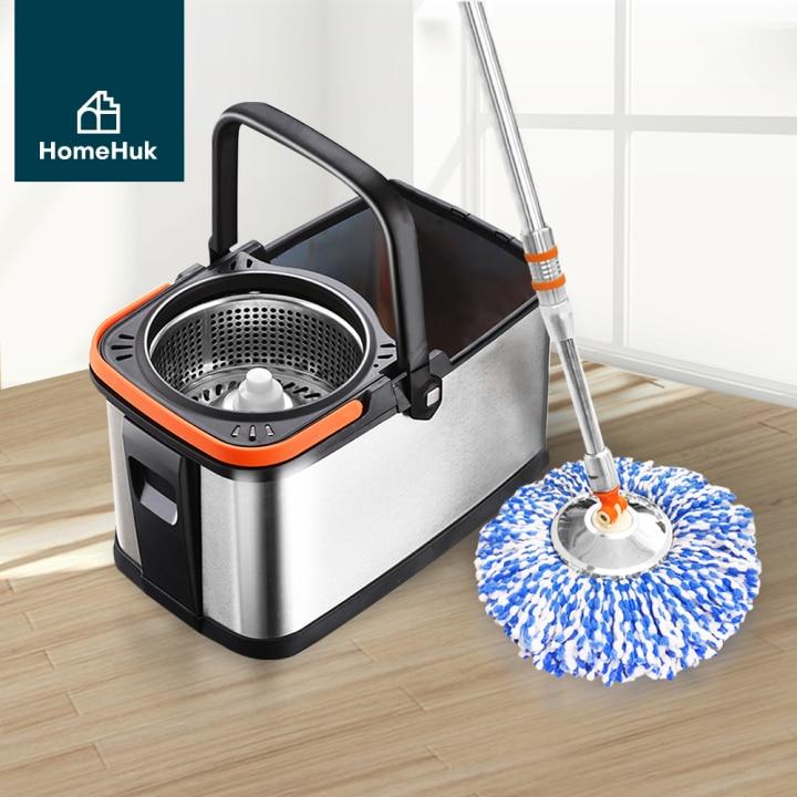 HomeHuk ถังปั่นไม้ถูพื้น รุ่น Stainless Steel Spin Mop Premium Pro ยี่ห้อไหนดี