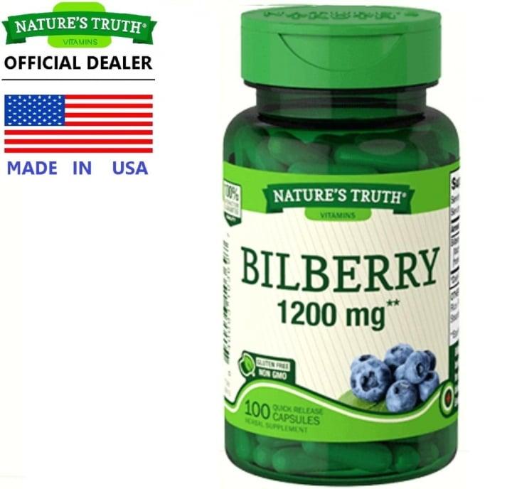 Nature's Truth Bilberry อาหารเสริมบํารุงสายตา 1,200 mg ยี่ห้อไหนดี