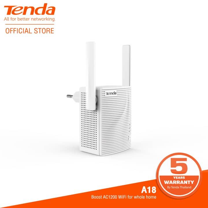 Tenda ตัวกระจายสัญญาณ Wi-Fi รุ่น A18 AC1200 Dual Band WiFi Repeater ยี่ห้อไหนดี